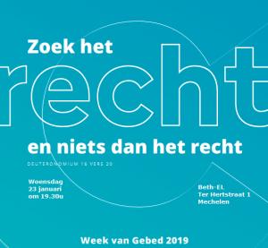 Gebedsweek Voor Eenheid Memo Mechelen