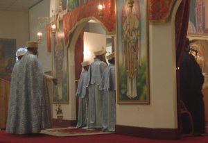 foto: Een Ethiopisch-orthodoxe kerkdienst in de St. Michael Ethiopian Orthodox Tewahedo Church in Washington D.C.